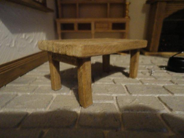 wooden craft table